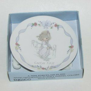 3 For $20 PRECIOUS MOMENTS EASTER 1991 MINI PLATE